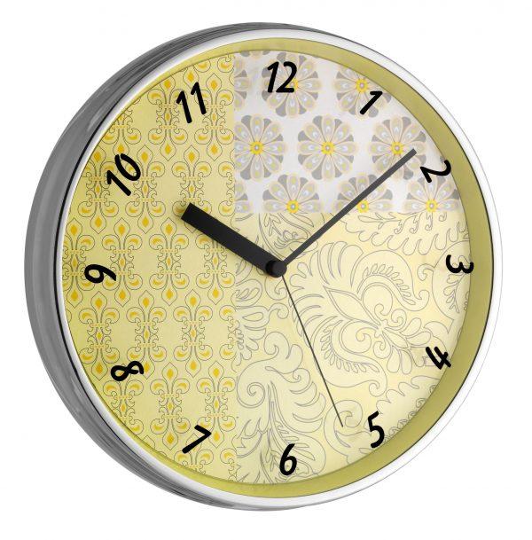 Analogue Designer Wall Clock With Metal Frame