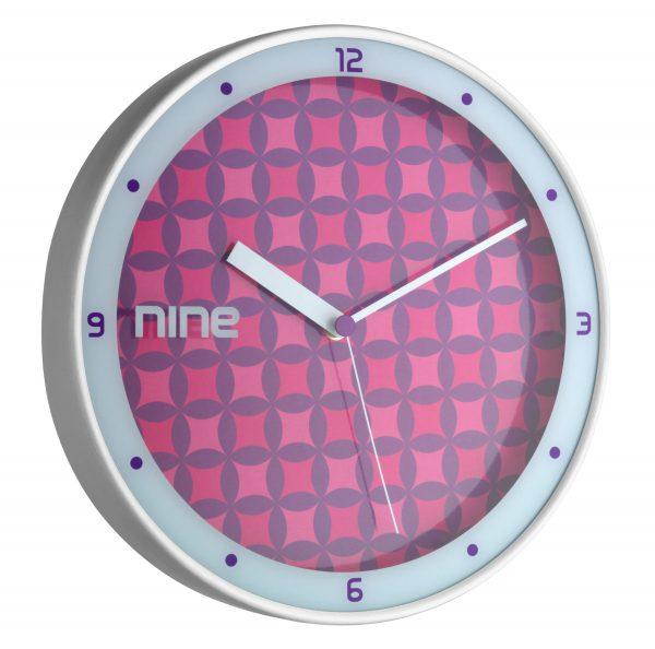 Analogue Designer Wall Clock With Aluminium Frame