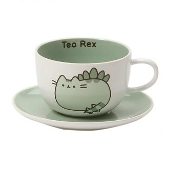 Pusheen Tea Rex Ceramic Tea Cup And Saucer Set