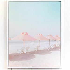 Peachy Beach Floating Frame