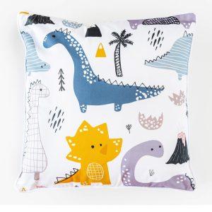 Dino Forrest Cotton Cushion