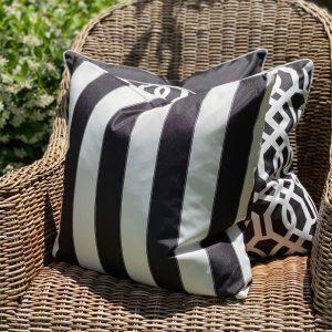 Capri Black Cushion Cover