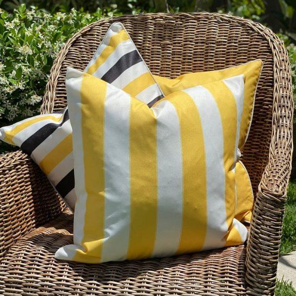 Capri Yellow Cushion Cover