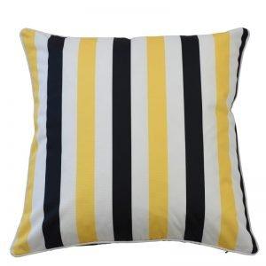 Amalfi Black / Yellow Cushion Cover