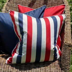 Amalfi Navy / Red Cushion Cover
