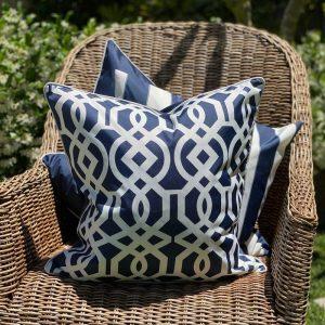 Portofino Navy Cushion Cover