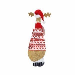 Red Reindeer Santa Duckling
