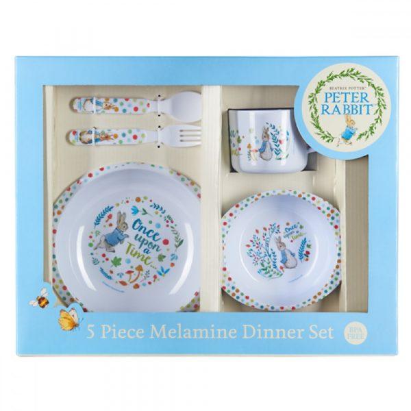 Classic Peter Rabbit Dinner Set - 5 Piece
