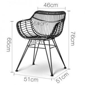 Handmade Rattan Dining Chair - Set of 2