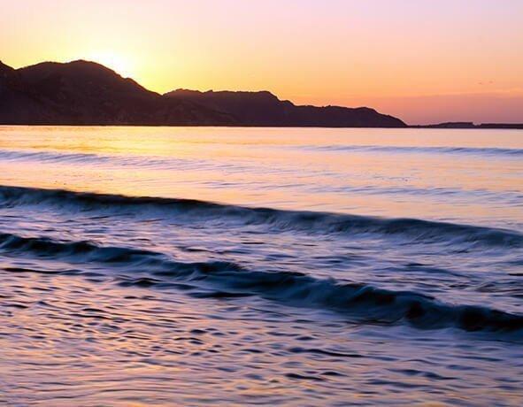 Pink Beach Sunset Canvas Print