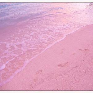 Pink Beach Tide Floating Frame
