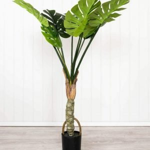Green Monstera Single Artificial Plant
