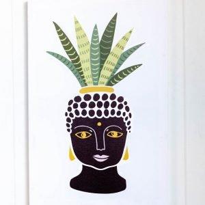 Buddha Planter Canvas Print