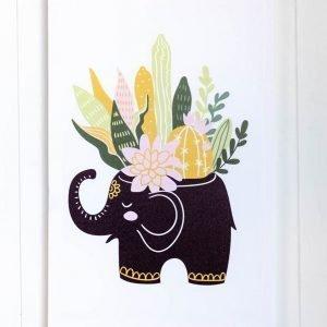 Elephant Planter Canvas Print
