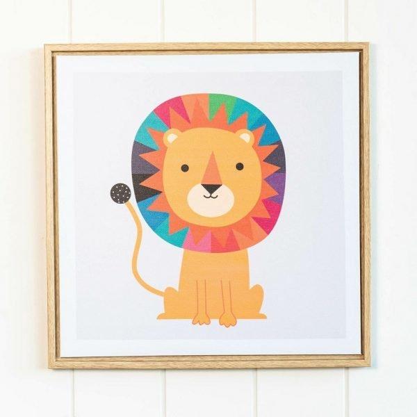 Rainbow Lion Framed Artwork