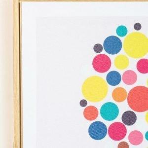 Rainbow Bubble Elephant Framed Artwork