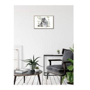 Koala Canvas Print With Frame