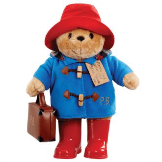 Paddington Bear With Embroidered Coat & Suitcase