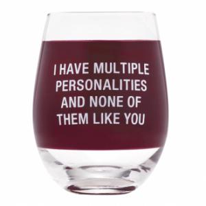 Multiple Personalities Wine Glass - Set Of 4