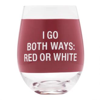 I Go Both Ways Wine Glass