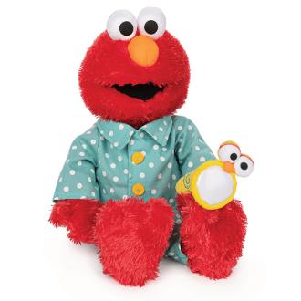 Sesame Street Bedtime Elmo Soft Toy- Glow In the Dark
