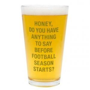 Football Season Pint Glass - Set Of 4