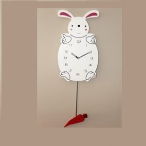 Bunny Clock With Carrot Pendulum