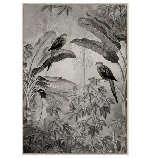 Backyard In The Tropics | Linen Canvas | Premium Artwork
