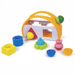 Lalaboom Shape Sorter & 8 PCS Beads