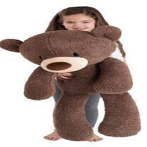 Fuzzy Chocolate Bear   Jumbo Plush   86CM