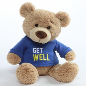 Get Well Soon | Message Bear | Blue Tshirt
