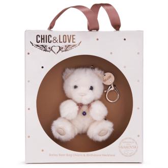 Bailey Bear Bag Charm & Necklace For February