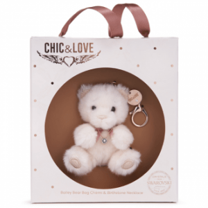 Bailey Bear Bag Charm & Necklace For April