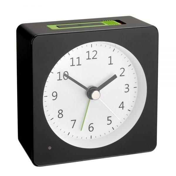 LOOM Electronic Alarm Clock | Black/Green