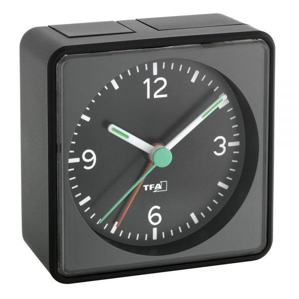 PUSH Analogue Alarm Clock | Black