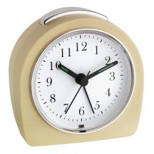 Taupe/Beige Retro Look Alarm Clock