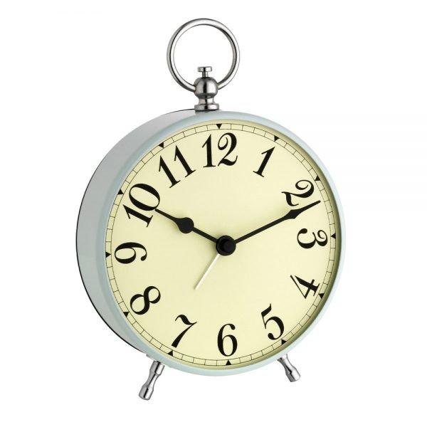 Vintage Dial Light Blue Alarm Clock