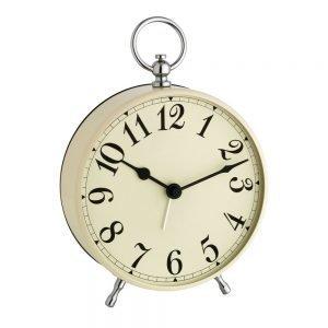 Vintage Dial Beige Alarm Clock