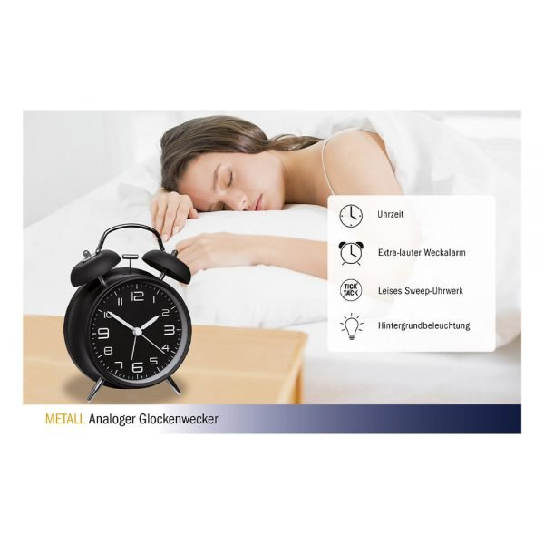 Twin Bell Alarm Clock With Silent Sweep Movement