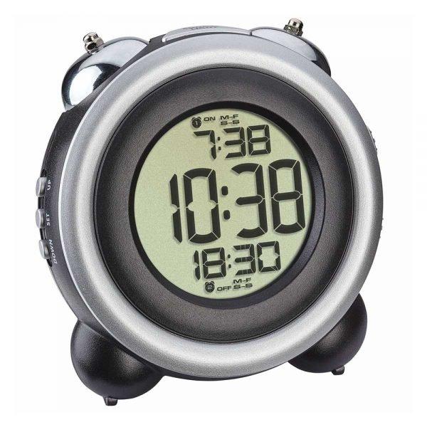 Digital Bell Alarm Clock   Black/Silver