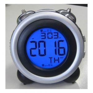 Digital Bell Alarm Clock | Black/Silver