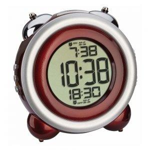 Digital Bell Alarm Clock | Red/Silver