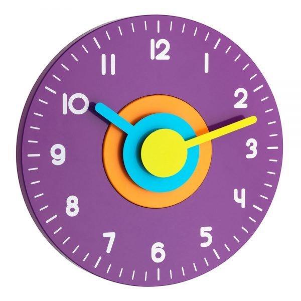 Polo   Analogue Designer Wall Clock   Lilac
