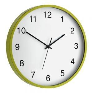 Green Plastic Frame Wall Clock