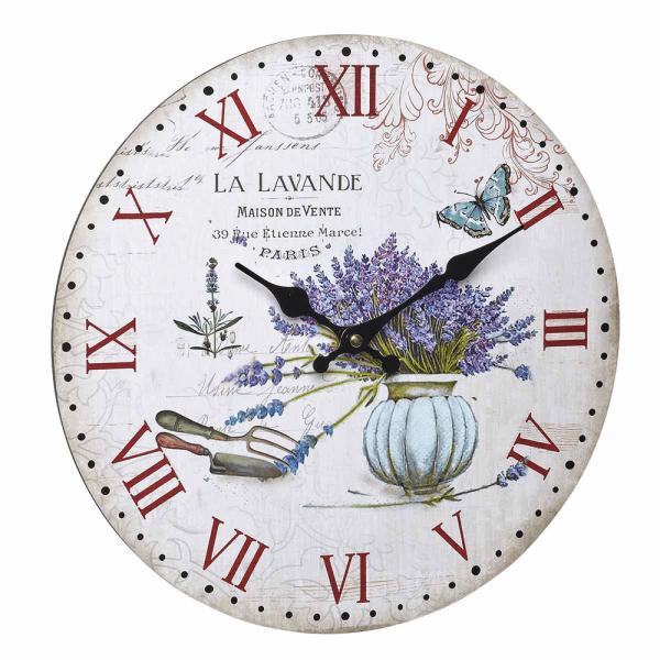 La Lavande Vintage Wall Clock