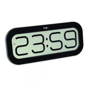 Bimbam Digital Radio-Controlled Clock with Hourly Chime - Black
