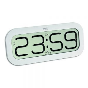 Bimbam Digital Radio-Controlled Clock with Hourly Chime - White
