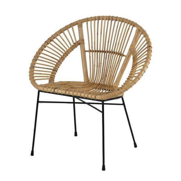 Aroona Fan Shaped Rattan Chair