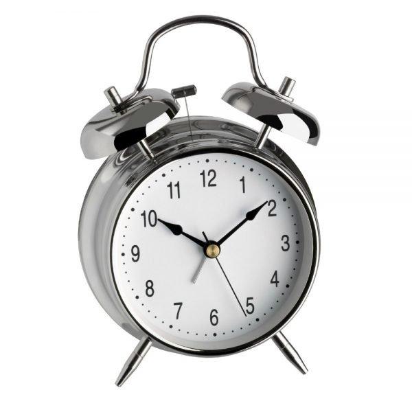 Nostalgia Double Bells Alarm Clock | Metal Chrome