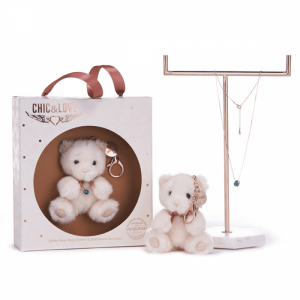 Bailey Bear Bag Charm & Necklace For March